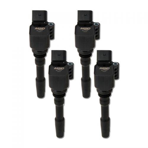 MSD Blaster Coil for VW / Audi 4 Cylinder 13-18 , Black, 4-Pack