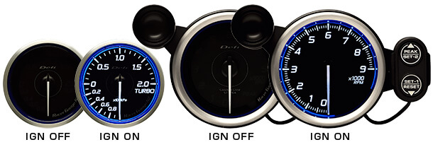 In stock. Defi DF Blue Racer N2 Boost Gauge 3