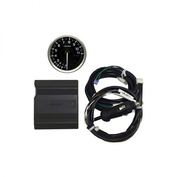 Defi Can-Driver w/OBDII Sensor Adaptor & ADVANCE A1 80mm White Tachometer set