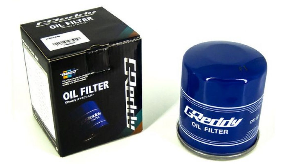 GReddy Oil Filter OX-04 for Nissan/Mazda/Infiniti/Subaru EJ system - Box and oil filter