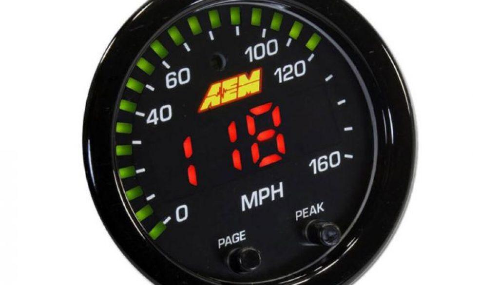 AEM X-Series Digital GPS Speedometer