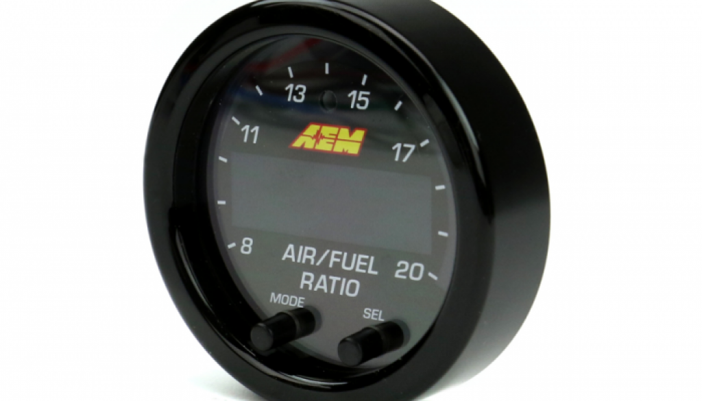 AEM X-Series Wideband AFR Gauge - Front left side