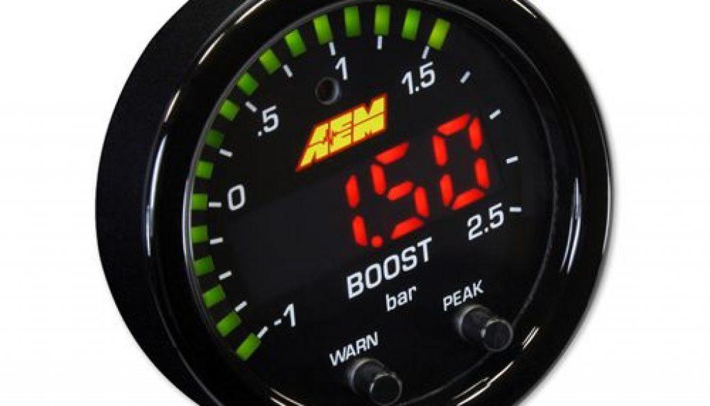 AEM X-Series 35PSI.2.5BAR Boost Display Gauge-front side