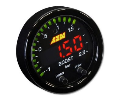 AEM X-Series 35PSI.2.5BAR Boost Display Gauge-front side