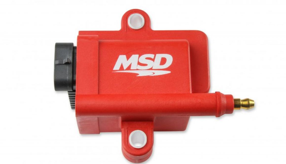 MSD IGNITION COIL, SMART COIL, RED, INDIVIDUAL - Front side