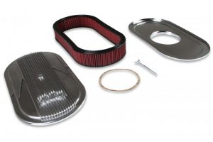 Holley Vintage Series Oval Air Cleaner - Polished 2