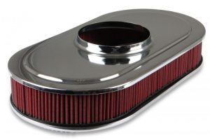 Holley Vintage Series Oval Air Cleaner - Polished 6
