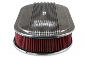 Holley Vintage Series Oval Air Cleaner - Polished 9