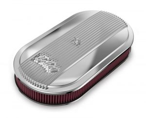 Holley Vintage Series Oval Air Cleaner - Polished 12