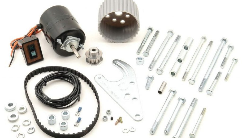 Mr. Gasket Electric Water Pump Drive Kit - Top view