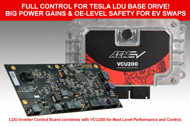 AEM EV to Deliver Full Control of Tesla LDU Base Drive for EV Swaps)