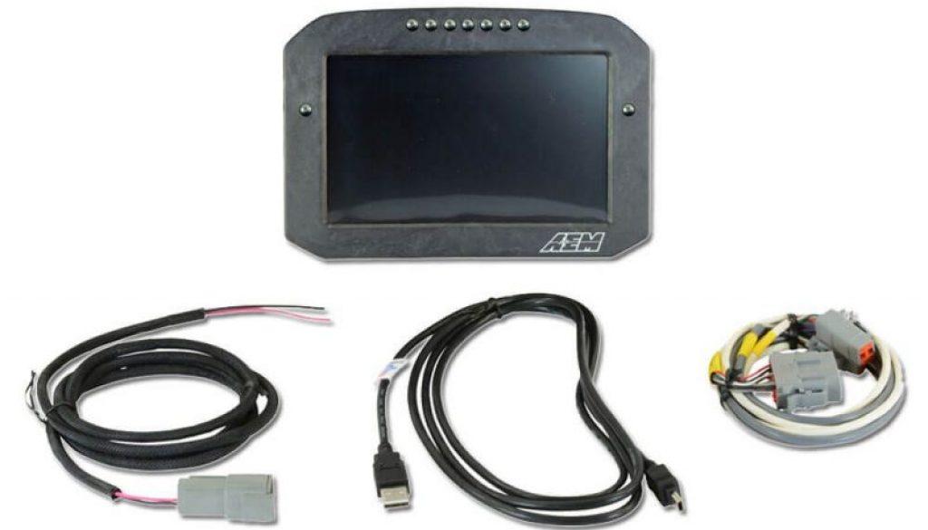 AEM CD-7F Carbon Flat Panel Non-Logging/ Non-GPS Display